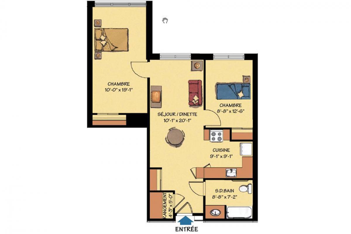 4 1 2 appartement